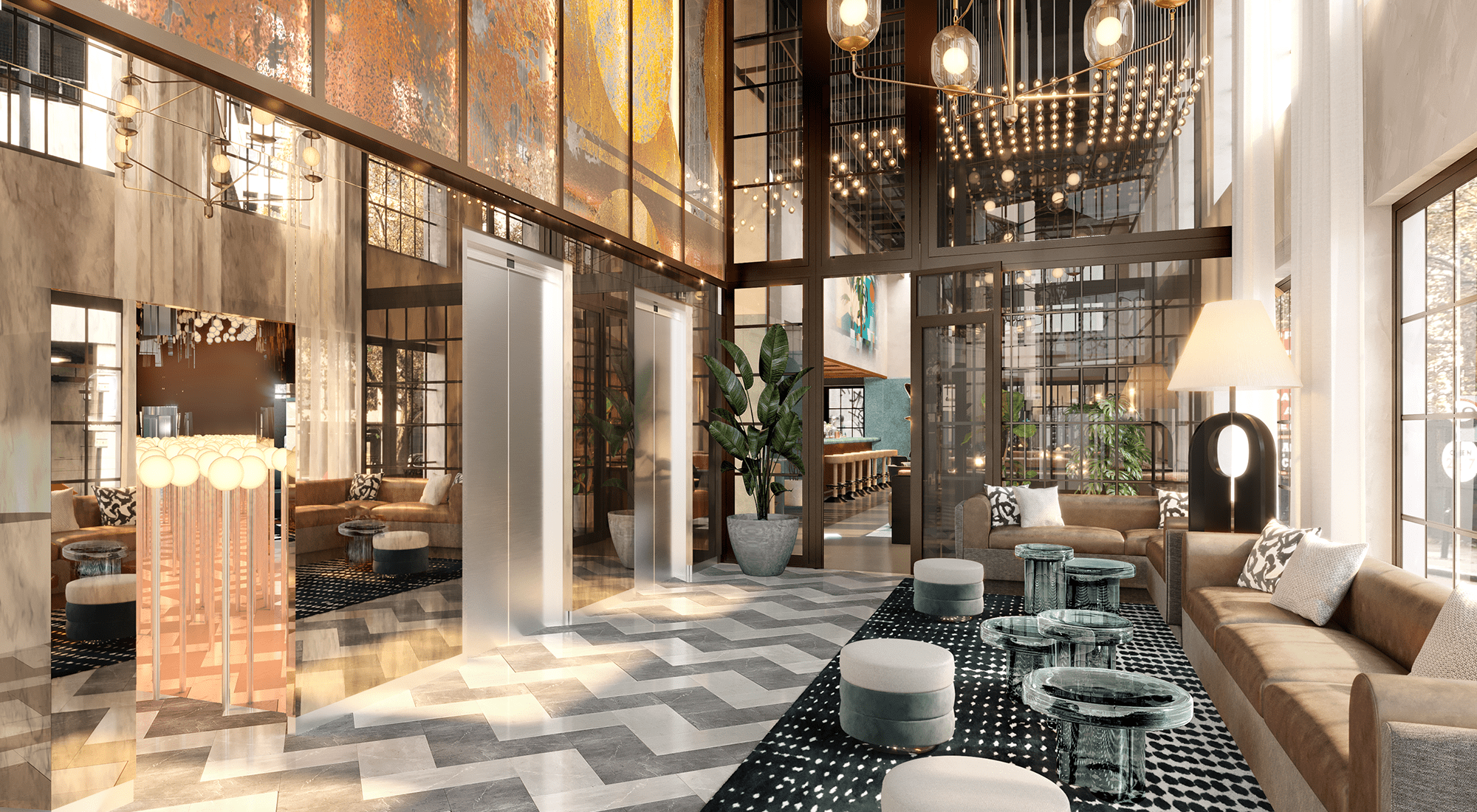 Mondrian Shoreditch London reopens after a complete redesign by Goddard Littlefair